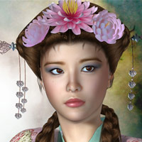 Asian Beauties 3D Models 3D Figure Essentials Virtual_World