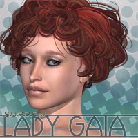 Surreal Lady Gaia Hair surreality