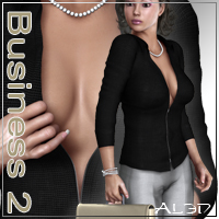 Al3d's BusinessLady 2 3D Figure Assets _Al3d_