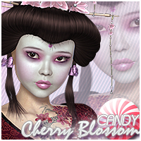 Candy Cherry Blossom 2 Hair Themed Sveva