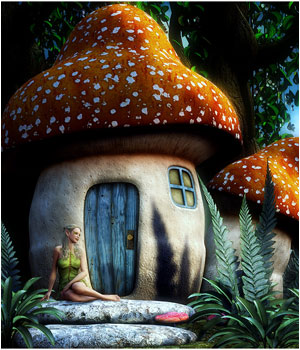 Mushroom Fairy House 3D Models RPublishing