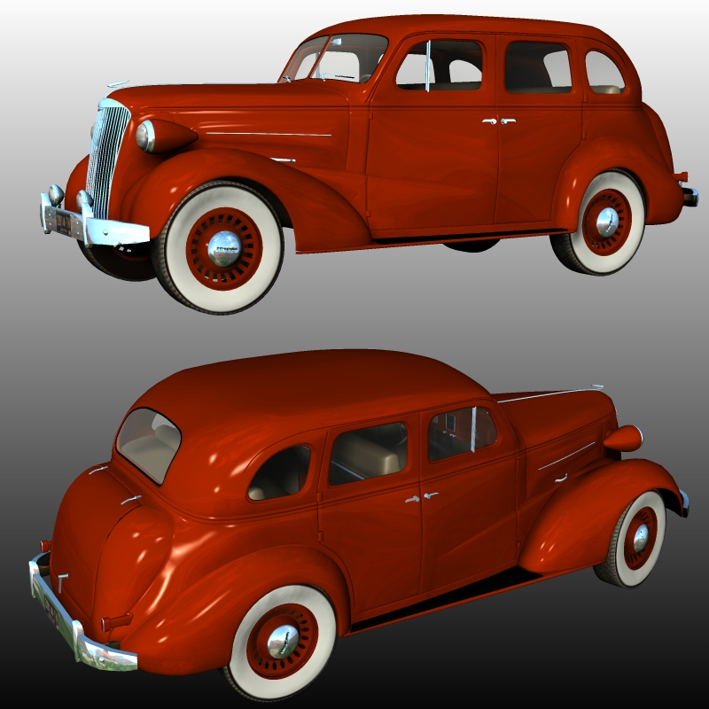 Chevrolet Sedan Four Door 1937 ( for Poser )