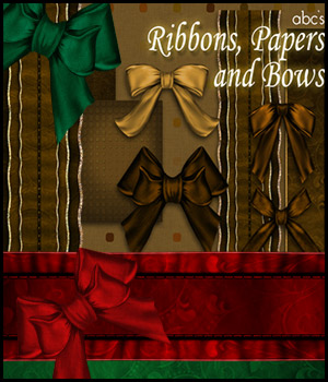 ABC Ribbons, Papers 'n' Bows 2D 3D Models Bez