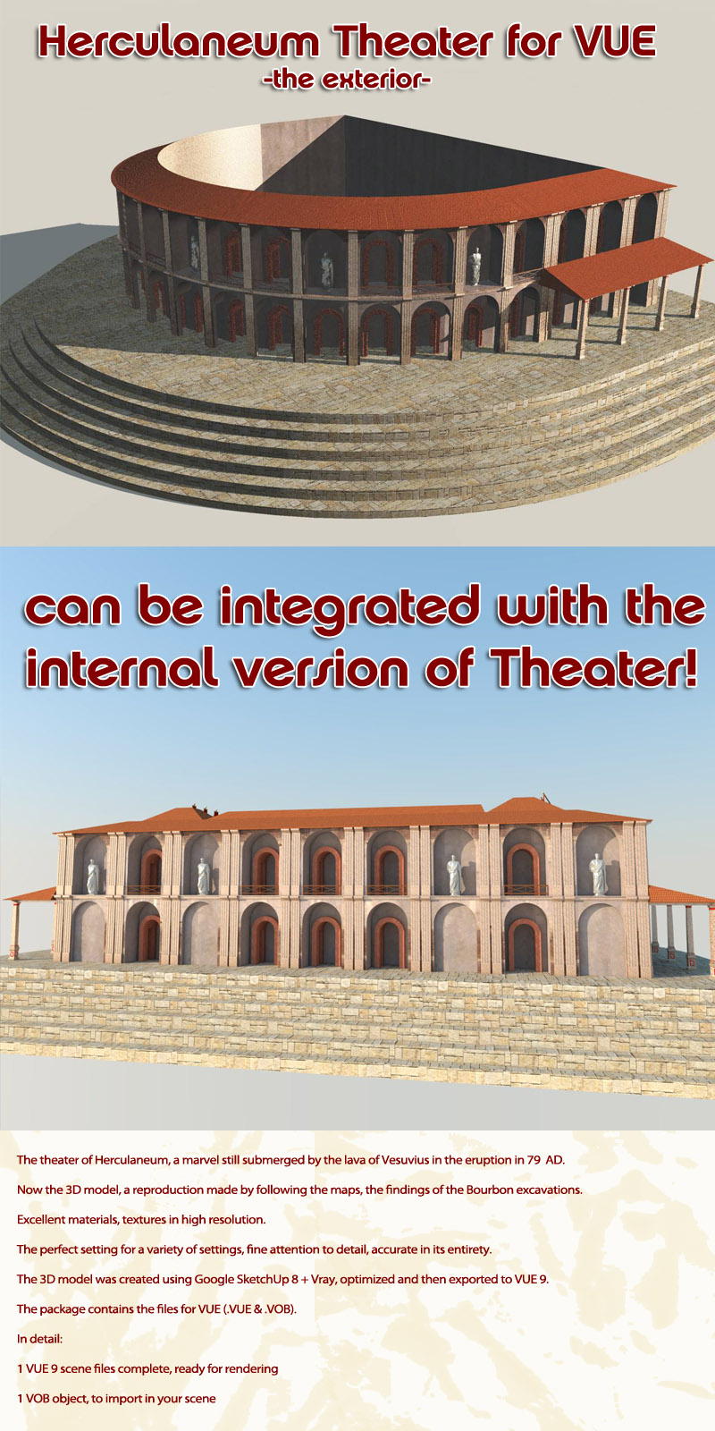 Herculaneum Theater - the outside - (for VUE)