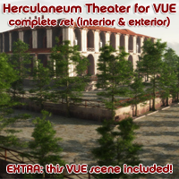 Herculaneum Theater - complete set for VUE (interior and exterior) Props/Scenes/Architecture Software Themed enxo69