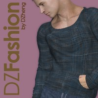DZ CowlNeck for M4H4Guy4 3D Figure Assets dzheng