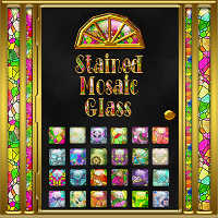 Stained Mosaic Glass Layer Styles 2D 3D Models fractalartist01