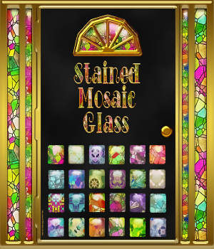 Stained Mosaic Glass Layer Styles 2D Graphics fractalartist01
