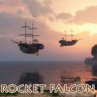 Rocket Falcon 3D Models 1971s