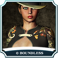 Cowboy Lady - for Coquine by RPublishing 3D Figure Essentials boundless