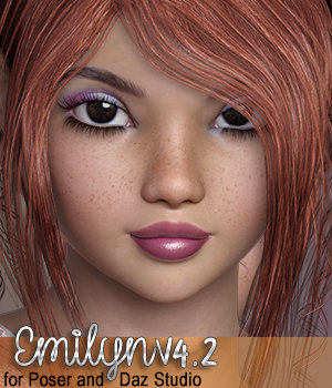 SublimelyVexed Emilyn Victoria 4 Poser & Daz Studio 3D Figure Assets 3DSublimeProductions