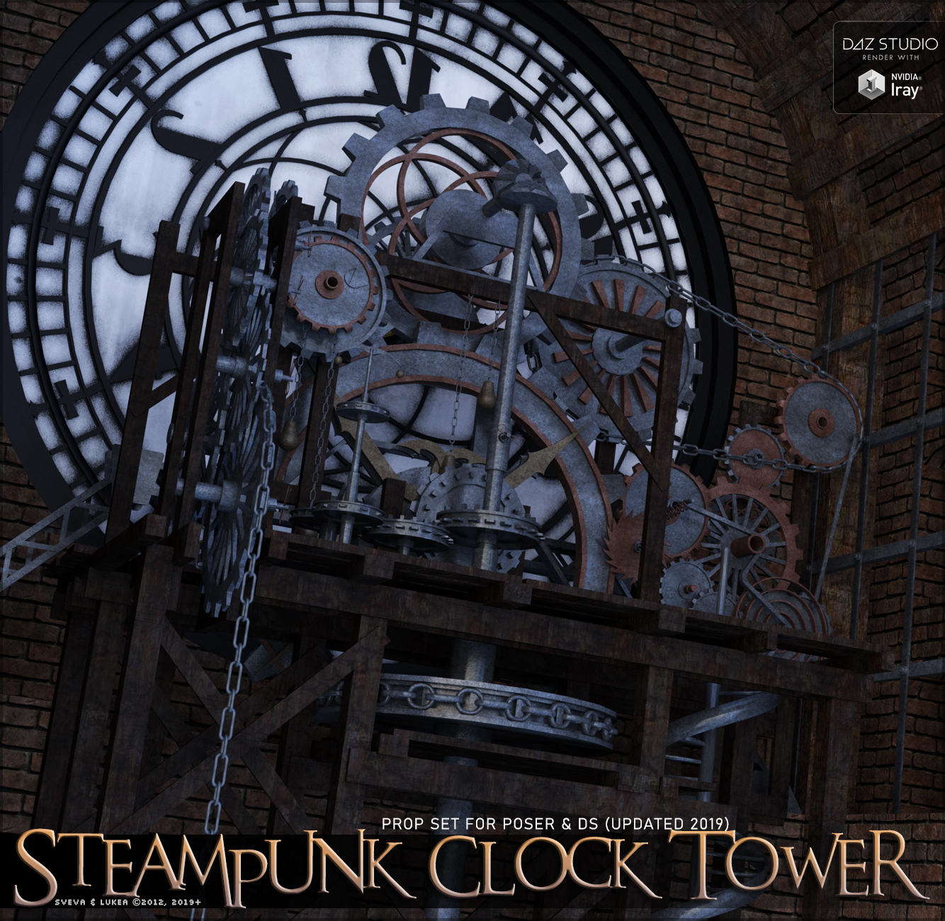 Steampunk Clock Tower by Sveva