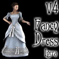 V4 Fancy Dress 3D Figure Essentials 3D Models Lyrra