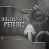 Collection Metallic 2D Graphics Atenais