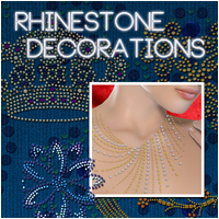 Rhinestone Decorations 3D Models 2D Graphics Atenais