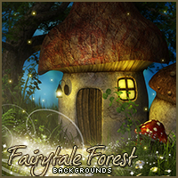 Background Mini-Pack 16: Fairytale Forest 2D Graphics Sveva