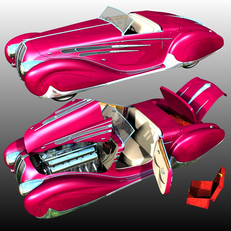 Delahaye Figoni Falaschi 1938 bundle ( for Poser )