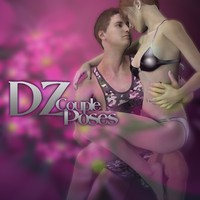DZ Couple Poses Set 9 3D Figure Essentials dzheng