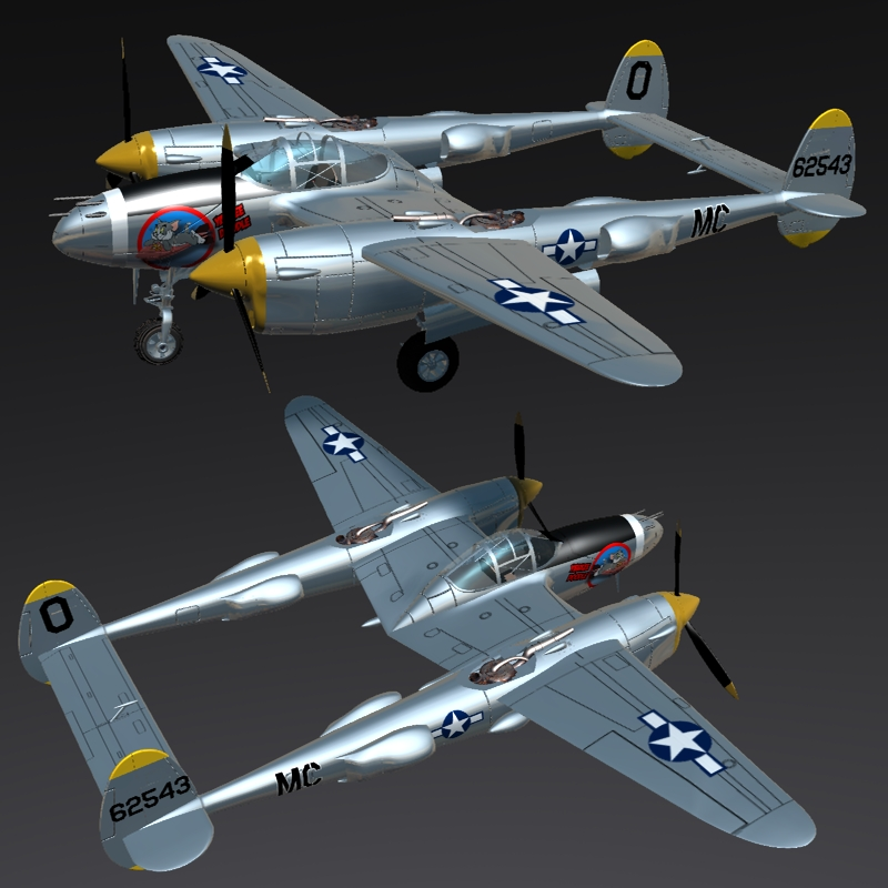 LOCKHEED P 38 LIGHTNING ( for Vue )