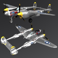 LOCKHEED P 38 LIGHTNING ( for Vue ) Software 3D Models Nationale7