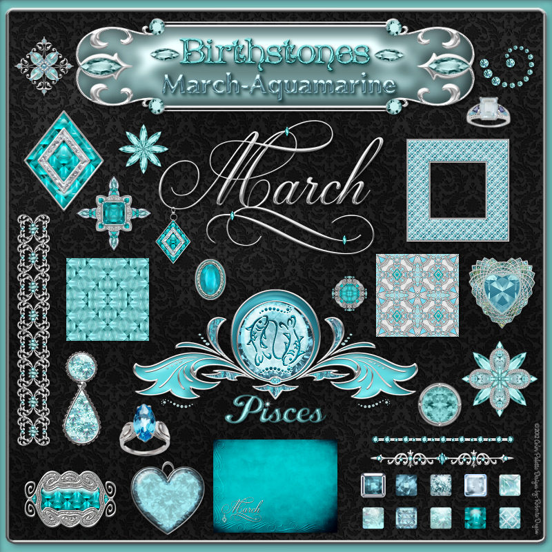 Birthstone Bling!: March-Aquamarine