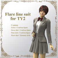 Flare Line Suit for TY2 3D Figure Assets kobamax