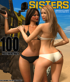 Sisters - 100 poses for V4 3D Figure Essentials hameleon