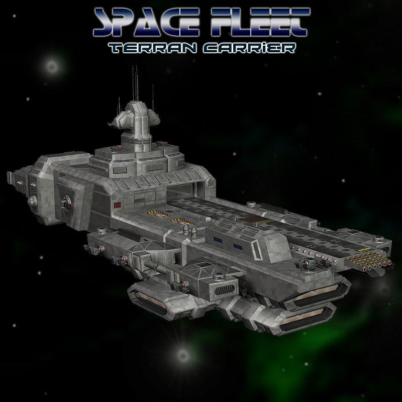 Space Ship Terran Carrier 3D Models Simon-3D
