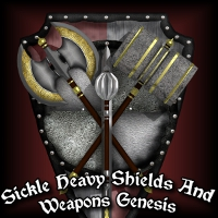 Sickle Heavy Shields And Weapons Genesis 3D Models SickleYield