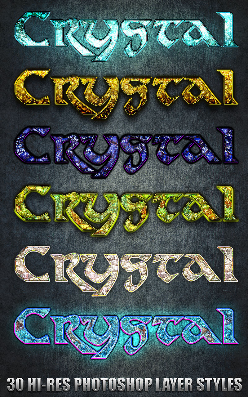 Crystal - Photoshop Styles