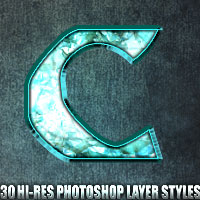 Crystal - Photoshop Styles 2D 3D Models designfera