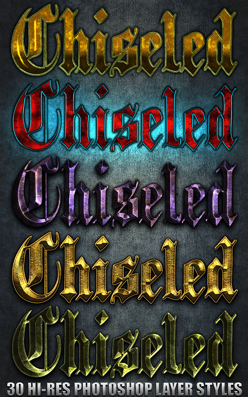 Chiseled - Photoshop Styles