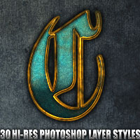 Chiseled - Photoshop Styles 2D Graphics 3D Models designfera