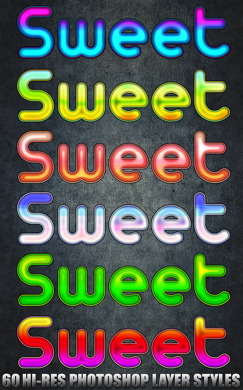 Sweet - Photoshop Styles