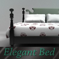 Elegant Bed 3D Models TruForm