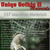 Uniqe Gothic materials II 3D Figure Essentials WhopperNnoonWalker-