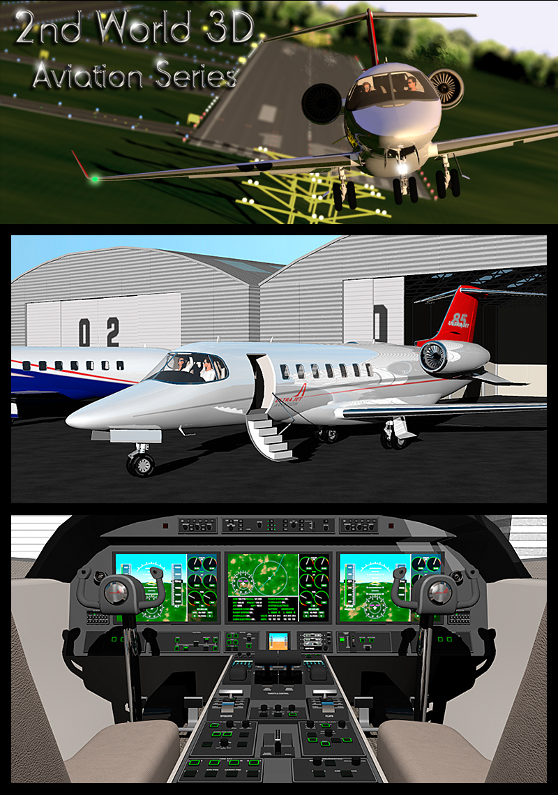Twin engine private jet 85 3D Models 2nd_World