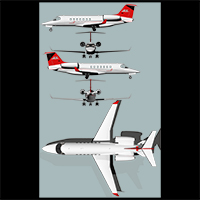 Twin engine private jet 85 image 6