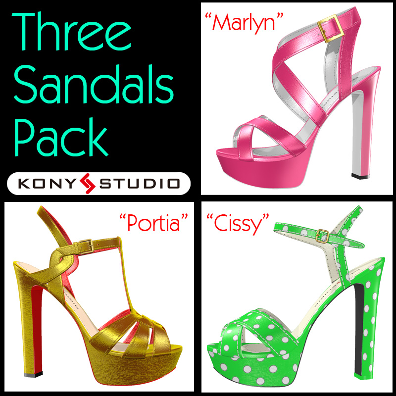 Three Sandals Pack for V4A4