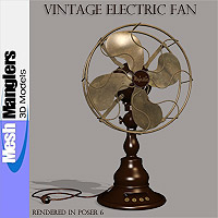 Vintage Electric Fan 3D Models keppel