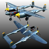 P 38 LIGHTNING ( for Poser ) by Nationale7