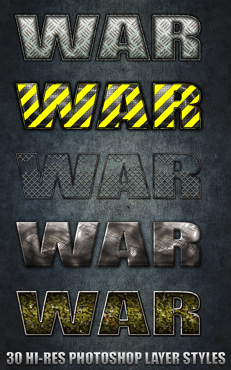 War - Photoshop Styles