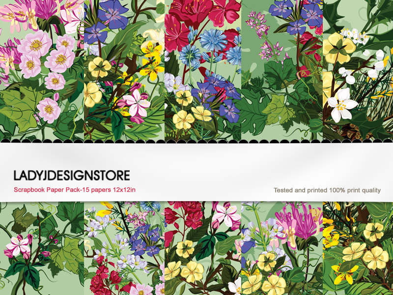Wild Flowers - Seamless Paper Pack