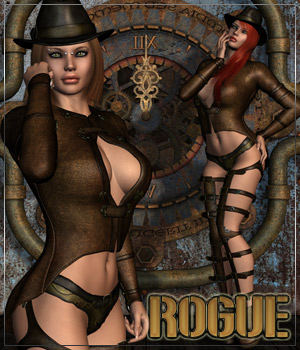 ROGUE for Coquine Clothing and Boots 3D Figure Assets Anagord