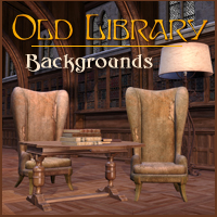 Old Library 3D Models 2D -Melkor-