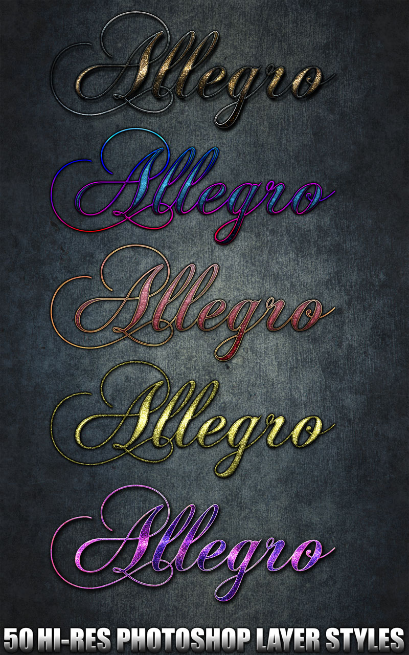 Allegro - Photoshop Styles