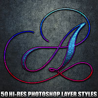 Allegro - Photoshop Styles 2D 3D Models designfera