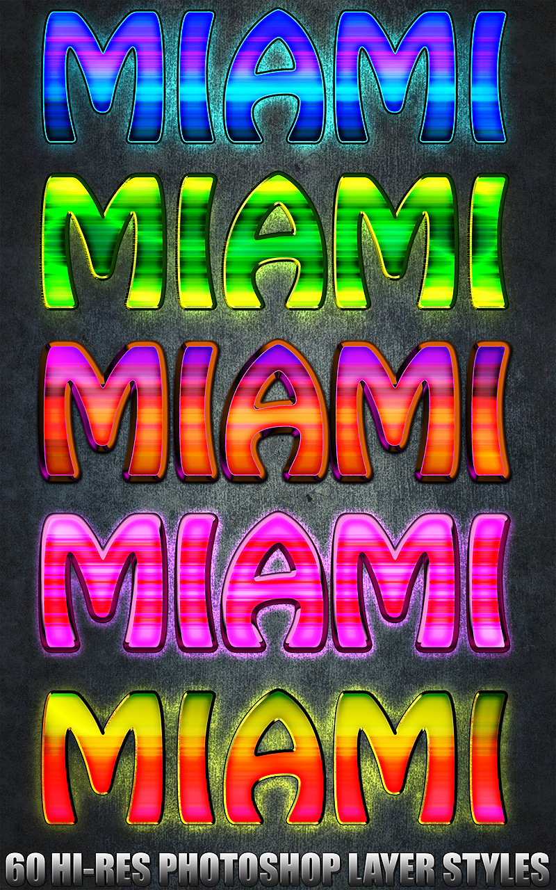 Miami - Photoshop Styles