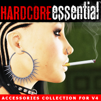 i13 HARDCORE ESSENTIAL accessories for V4 3D Figure Assets biglovepose