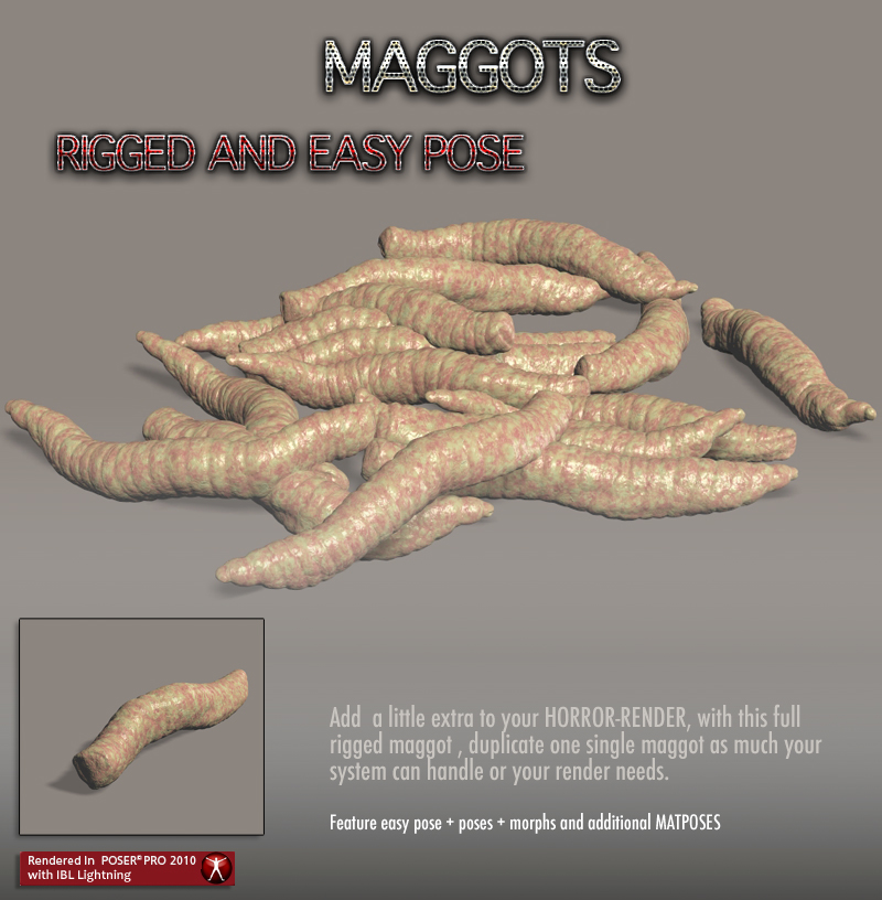 Maggots for your Horror Render